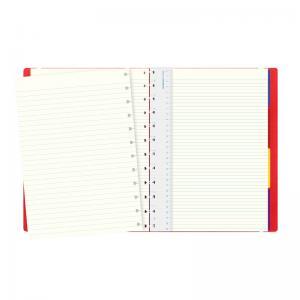 Filofax Notebook A4 linjerad röd