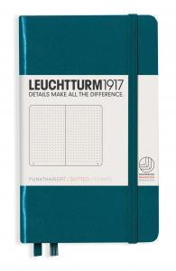 Leuchtturm1917 Leuchtturm A6 hard 185s Pacific Green dotted - Kalenderkungen.se