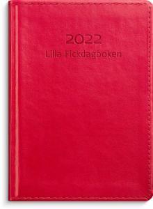 Lilla Fickdagboken rött konstläder 2022