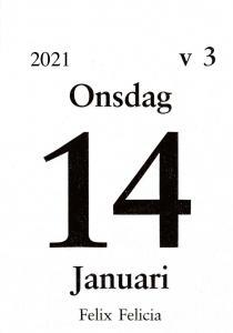 Dagblock 75x107mm 2021