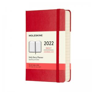 Moleskine Daily Red Hard Pocket 2022