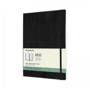 Moleskine Weekly notebook XL Soft Black 2022
