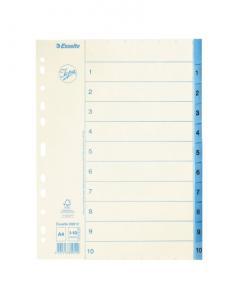 Emo Pappersregister JOPA A4 1-10 vit/blå - Kalenderkungen.se