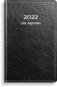 Lilla Agendan svart konstläder 2022