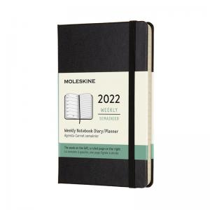Moleskine Weekly Notebook Black hard pocket 2022