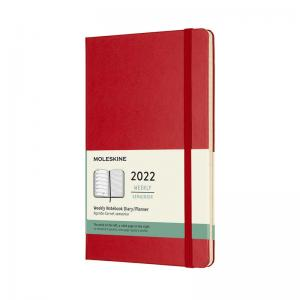 Moleskine Weekly Notebook Red hard Large 2022