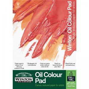 Oljemålningsblock Winton A4 10 ark 230g