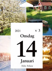 Väggplån med dagblock årstiderna 2021
