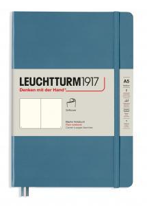 Leuchtturm Notebook A5 soft olinjerad Stone blue