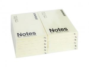 Notes 76x101mm gul 12-pack