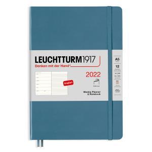 Kalender Leuchtturm1917 A5 Soft vecka/notes Stone Blue 2022