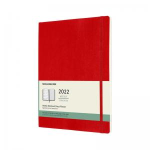 Moleskine Weekly notebook XL Soft Red 2022