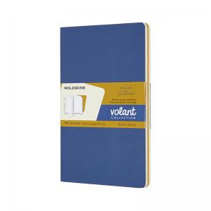 Moleskine Moleskine Volant Journal Plain Large Forget-Me-Not Blue/Amber Yellow - Kalenderkungen.se