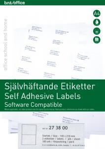 B.N.T Kop/Laseretiketter 210x148mm - Kalenderkungen.se