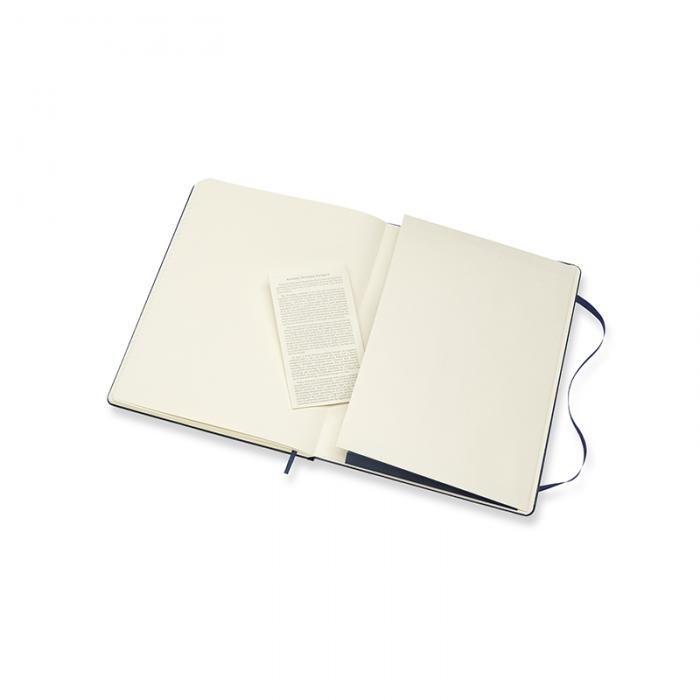 Moleskine Notebook X-large Hard Cover - Blå - Linjerad