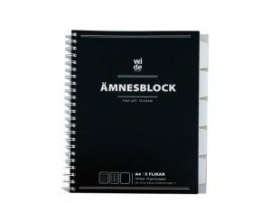 Ämnesblock WIDE A4 70g 5 flikar