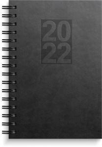 Dagbok svart konstläder Country 2022