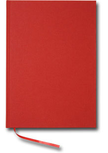 Paperstyle Olinjerad Blank Book A4 192 sidor Red - Kalenderkungen.se