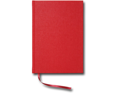 Paperstyle Linjerad Notebook A5 128 sidor Red - Kalenderkungen.se