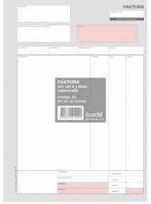 Burde Förlag Faktura A4 med 2 kopior - Kalenderkungen.se